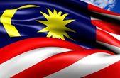 Bandiera della malesia — Foto Stock
