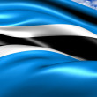 Flag of Botswana - Stock Photo