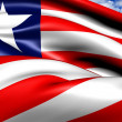 Flag of Liberia — Stock Photo
