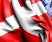 Flaga danii — Zdjęcie stockowe