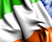 Irländsk flagg — Stockfoto