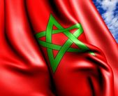 Flagga marocko — Stockfoto