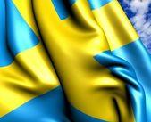 瑞典的国旗 — 图库照片