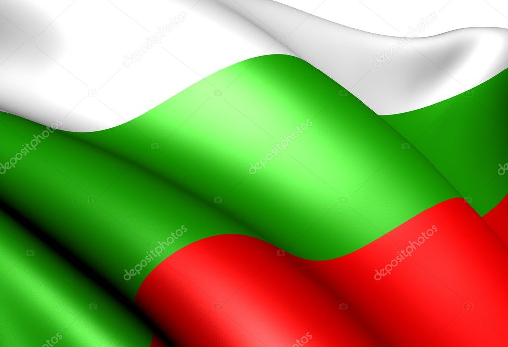 Flag of Bulgaria against white background. Close up.  — Stock Photo #5370222