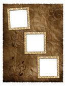 Zdjęcie ram na starym albumie — Zdjęcie stockowe