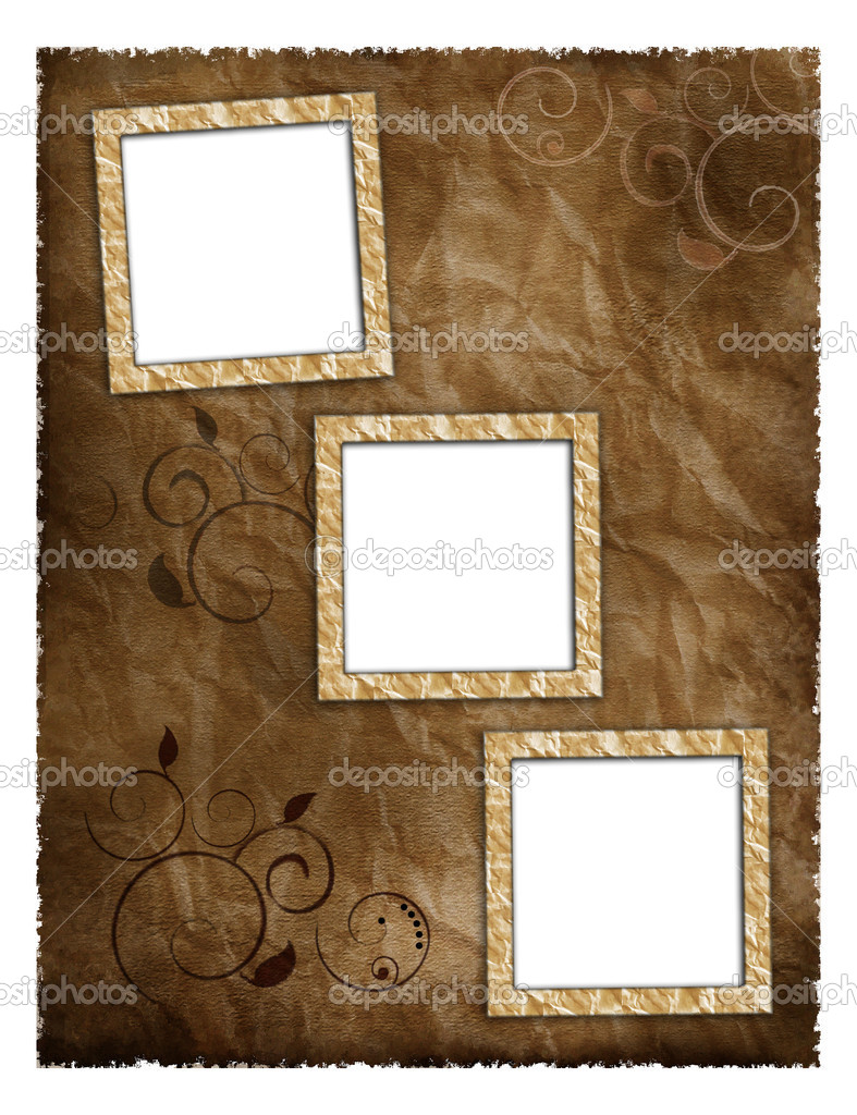 Photo frameworks on background image with texture old paper — Stock Photo #4629174