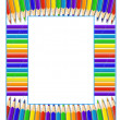 Stock Vector: Frame of pencils