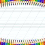 Pencil border — Stock Vector