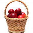 Basket with red apples — Stock Photo
