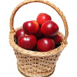 Basket with red apples — Foto Stock