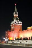 Russia Red square night — Stockfoto
