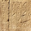 Ancient egypt hieroglyphics on wall — Stock Photo #4400538