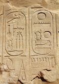 Ancient egypt hieroglyphics on wall — Stock Photo