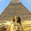 Egypt pyramid and sphinx — Stock Photo