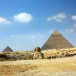 Egypt pyramid and sphinx — Stock Photo #4917310