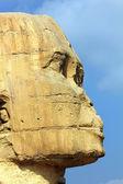 Egypt sphinx face — Stock Photo