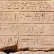 Stock Photo: Ancient egypt hieroglyphics in karnak temple