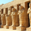 Ancient statues in Luxor karnak temple - Stock Photo
