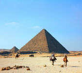Egypt pyramids in Giza — Stock Photo