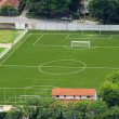 Little town soccer field — Foto Stock