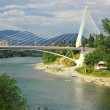 Millennium bridge in Podgorica, Montenegro — Stock Photo