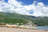 Becici beach near Budva, Montenegro — Stock Photo