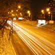 Night road traffic in Kyiv, Ukraine — Stock Photo