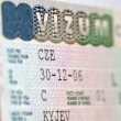 Stock Photo: Page of passport with Czech Republic national visa
