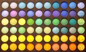 Multicolour eyeshadows palette — Stock Photo