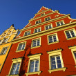 Colourful buildings in Wroclaw, Poland - Stock Photo