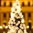 Bokeh lights of New Year's tree — Stock Photo