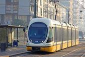 Modern tram in Milan — Stock Photo