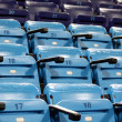 Blue empty stadium seats — Stock Photo