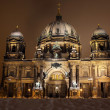 Berliner Dom at night. Berlin, Germany — Lizenzfreies Foto
