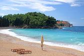 Pustej plaży w czarnogórze — Zdjęcie stockowe
