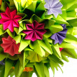 Origami kusudama flower — Stock Photo