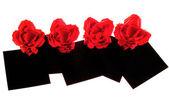 красные розы оригами — Стоковое фото