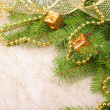 Christmas decoration on fir branch - Stock Photo