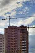 Cranes and construction — Stock Photo