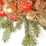 Christmas decoration on fir branch — Stock Photo