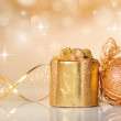 Christmas decoration on defocused lights background — Stock Photo #4408484