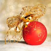 多重ライト バック グラウンド上のクリスマスの装飾 — ストック写真