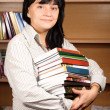 Stock Photo: Student with Library Books