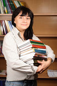 Student with Library Books — Stock Photo