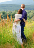Couple on nature — Stock Photo