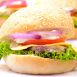 Hamburger isolated - Stock Photo