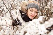 冬の日の女性 — ストック写真