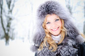 Woman in winter day — Stock Photo