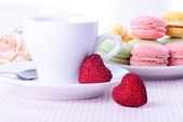 Dessert on valentine's — Stock Photo