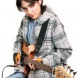 Young man rock musician — Stock Photo